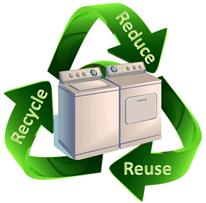 Washer and dryer recycling